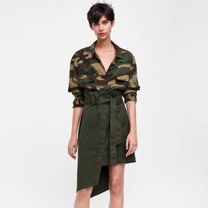 Zara premium asymmetrical paperbag skirt